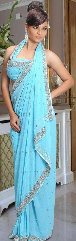 Aqua Designer.  Beautiful indian dress!