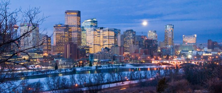 Calgary at nightBook Club, Calgary Alberta, Bows Rivers, Oooh Canada, Calgary Landscapes, Canada Calgary, Calgary Canada, Travel Locations, Modern Cities