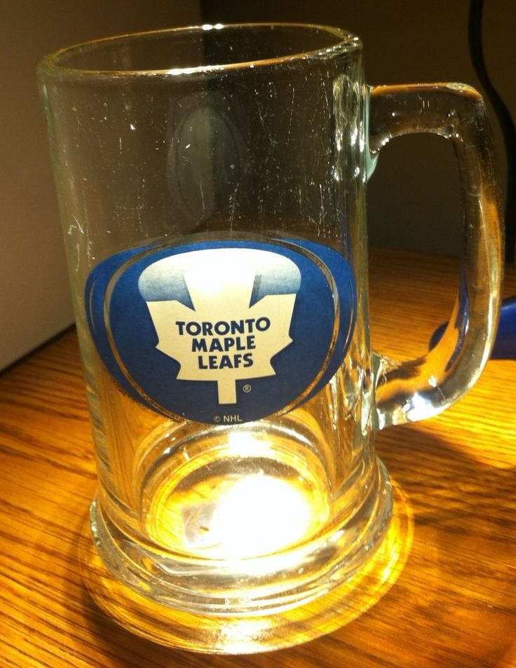 Toronto Maple Leafs Beer Mug Glass NHL Official Hockey Collectible 15 oz #NHL #TorontoMapleLeafs
