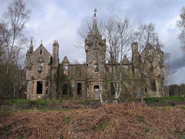 Dunalastair Estate - ruins of Dunalastair Castle, ancestral home of the Robertsons.