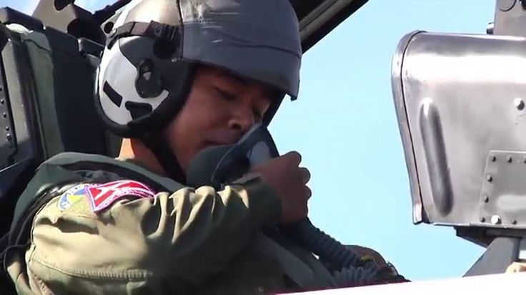 Philippine Air Force Pilot in McDonnell Douglas F/A-18 Hornet