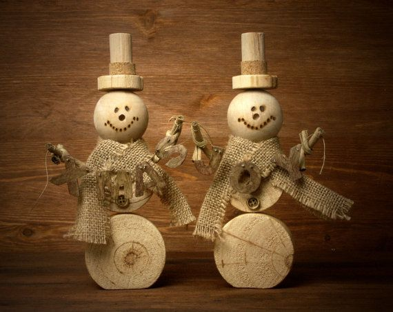 Wooden Snowman XMAS by ForMomentsinTime on Etsy