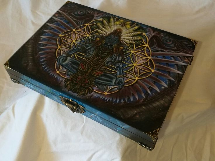 Közös munkánk Janisszal psychedelic mintával decoupage-technikával / Made by Janis&Me together