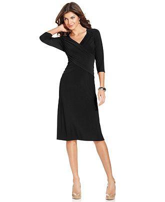 Elementz B-Slim Dress, Three-Quarter-Sleeve - Dresses - Women - Macy's