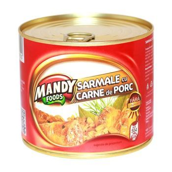 Sarmale cu Carne de Porc - Conservă easy-open, 500 g