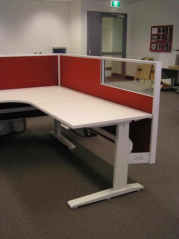 Acti height adjustable office workstations.  http://www.endoofficefurniture.com.au/products/range/office-workstations