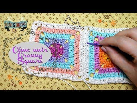 Tutorial Como unir Granny Squares / Join Granny Square Tutorial Crochet - YouTube