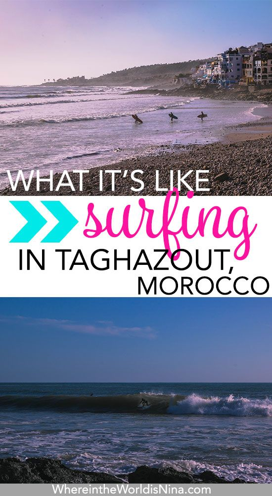 Surfing in Morocco! Who woulda thunk? I didn't know but I'm so happy I got to go surfing in Taghazout. Find out all about Taghazout surf, Taghazout beaches, and finding a surf camp in Taghazout right here. #Taghazout #Morocco #Surfing #SurfMorocco