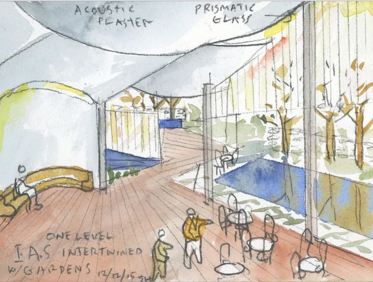 Steven Holl Architects Wins Competition to Design Rubenstein Commons at Institute for Advanced Study,Courtesy of Steven Holl Architects