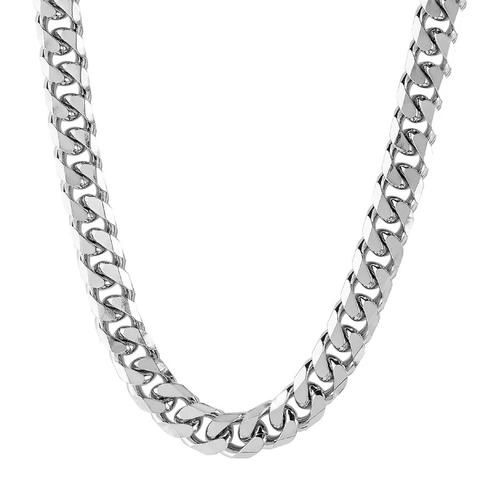 """N047003 - Men's Stainless Steel Link Chain Necklace, 22"""""""