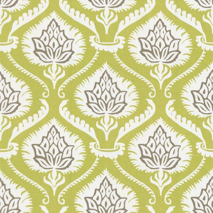 Artichoke Cotton Sateen Fabric