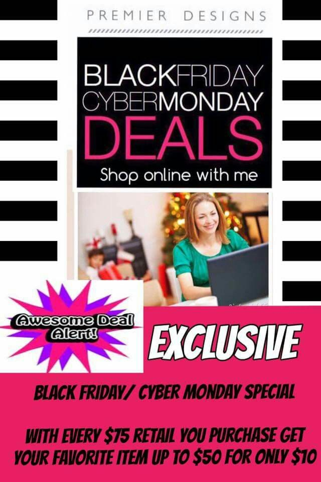 Amazing Cyber Monday Deals on beautiful Premier Designs jewelry!  Simply view the online catalog then contact me to place your order and get the best deal.  Catalog: ilovesparkle.mypremierdesigns.com  Contact: amyc.premier@gmail.com