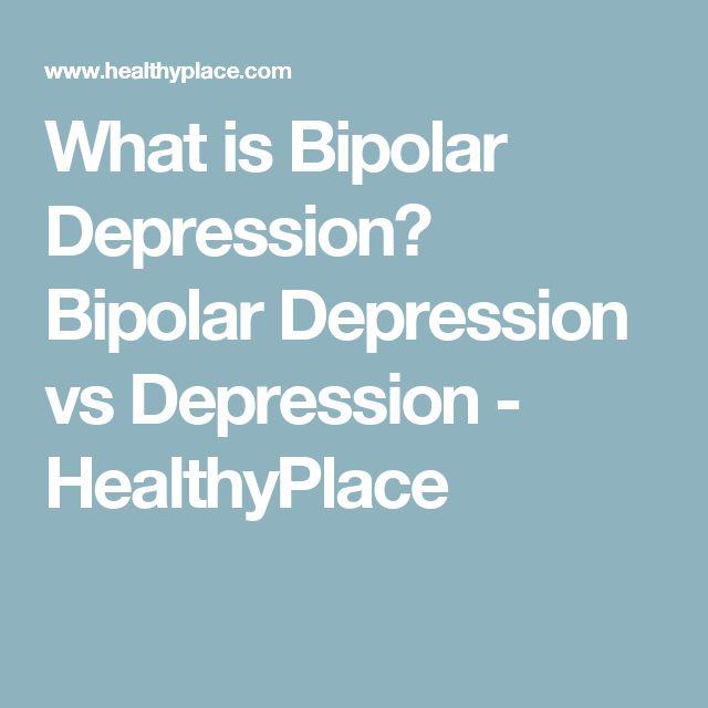 What is Bipolar Depression? Bipolar Depression vs Depression - HealthyPlace