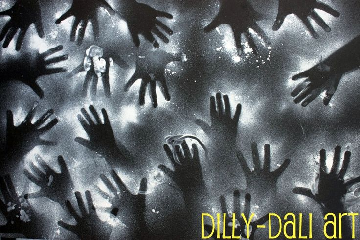 Dilly-Dali Art: Negative Art and Cotton Swab Bones