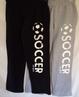 Soccer Sweatpants in Black and White Print