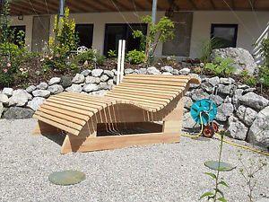 Relaxliege - Wellnessliege, Holzliege, Gartenmöbel - Entspannung, Wohlfühlliege