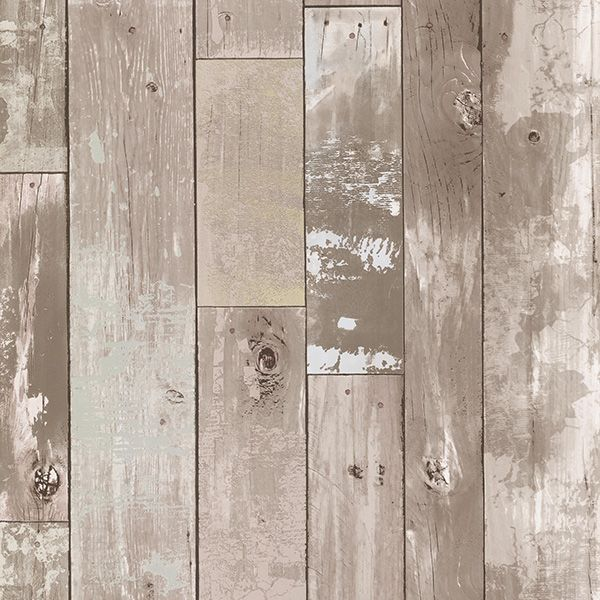 347 20132 Taupe Distressed Wood Panel