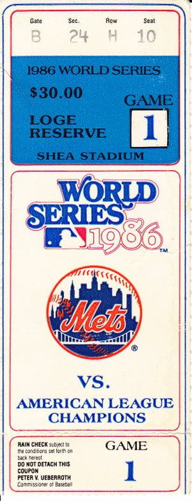 I WAS THERE! / GAME 1- Ron Darling vs. Roger Clemens / 1986 World Series