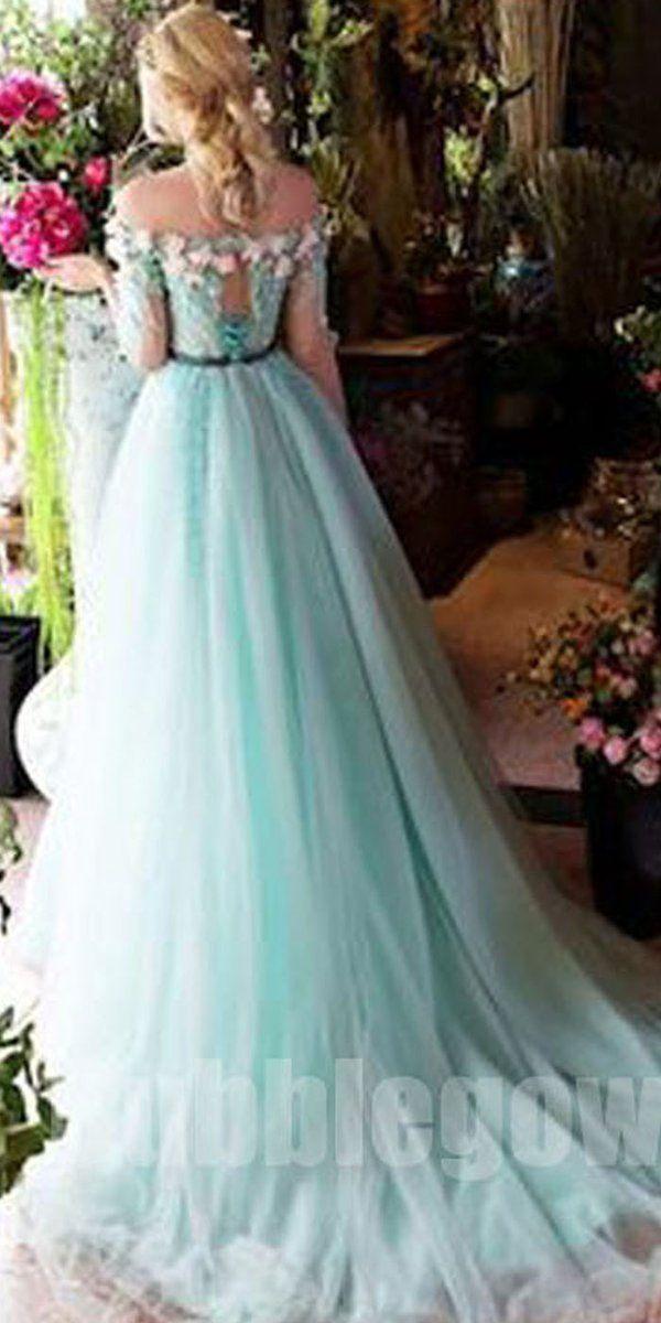 0d54e29cddc Off the Shoulder Charming Half Sleeves Long Evening Prom Dresses, BGP043  #promdress #promdresses