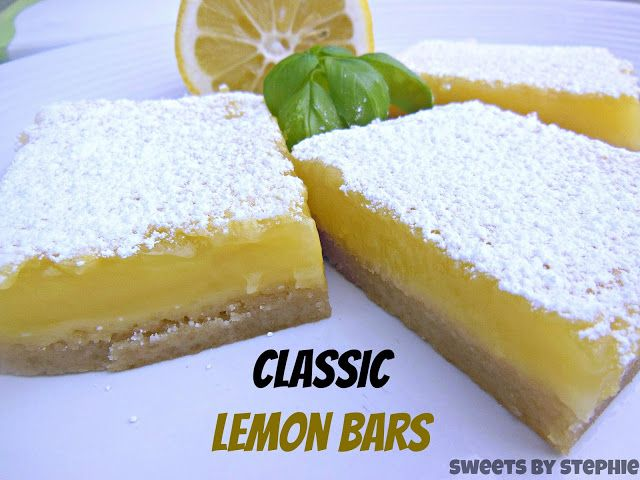 Sweet's By Stephie: Classic Lemon Bars | Get in my belly!!! | Pintere ...