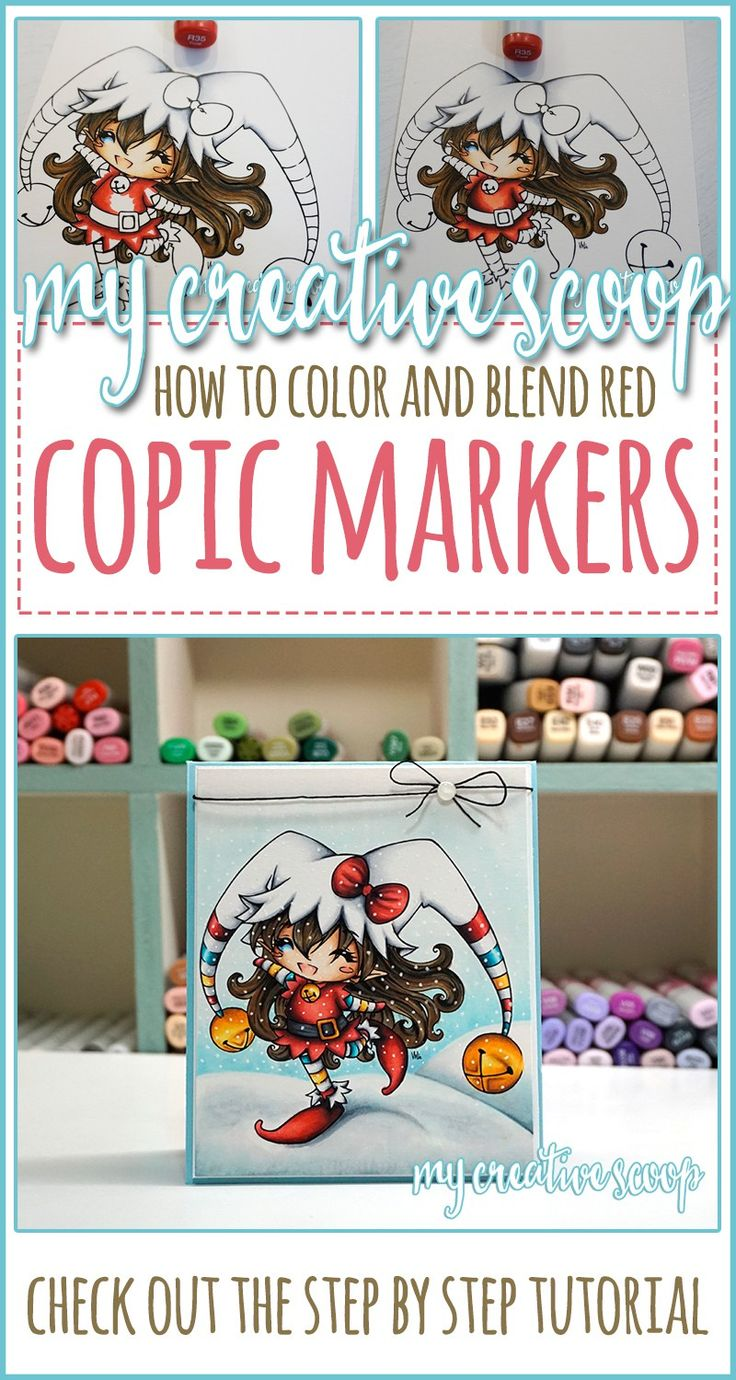 how-to-color-red-using-your-copic-markers-pinterest