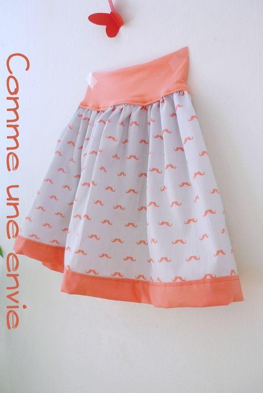 17 meilleures id es propos de tutoriel de jupe de filles sur pinterest motifs sur jupe de - Tuto jupe facile elastique ...