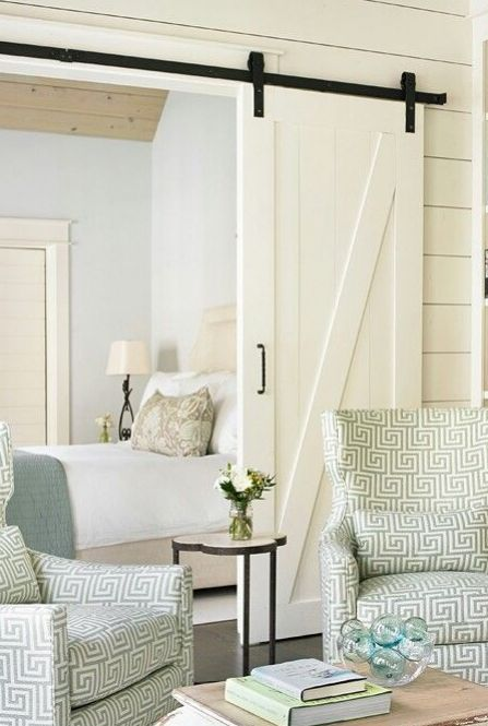 Small house plans and a great sliding barn door that I want to use in front of the pantry