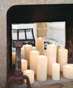 Candles For Fireplace Decor 56 best faux fireplace ideas deco images on pinterest | fireplace