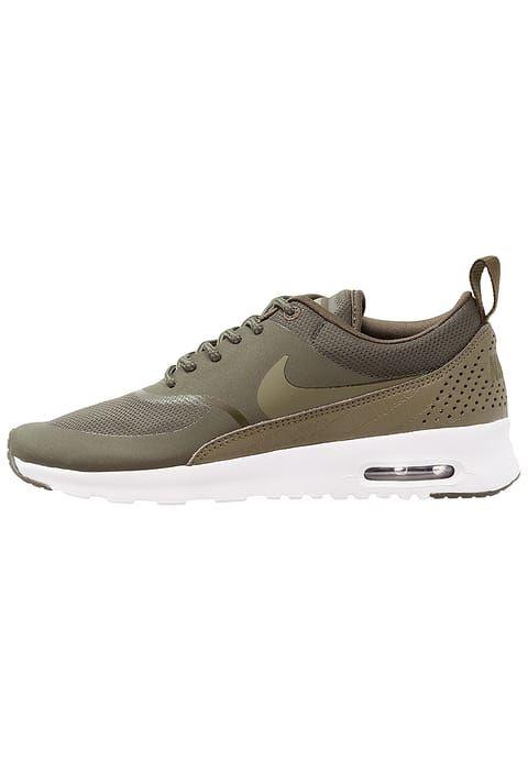 Nike Sportswear AIR MAX THEA - Joggesko - cargo khaki/medium olive/white - Zalando.no