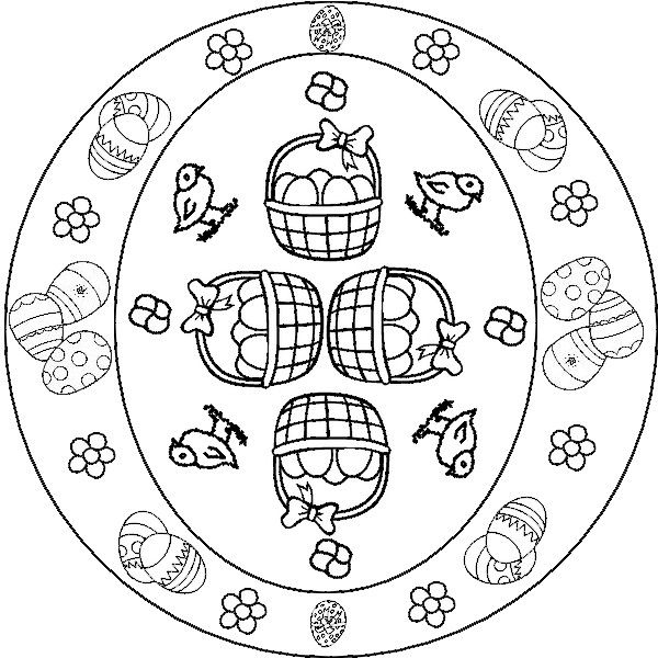 Kleurplaat Mandala Pasen