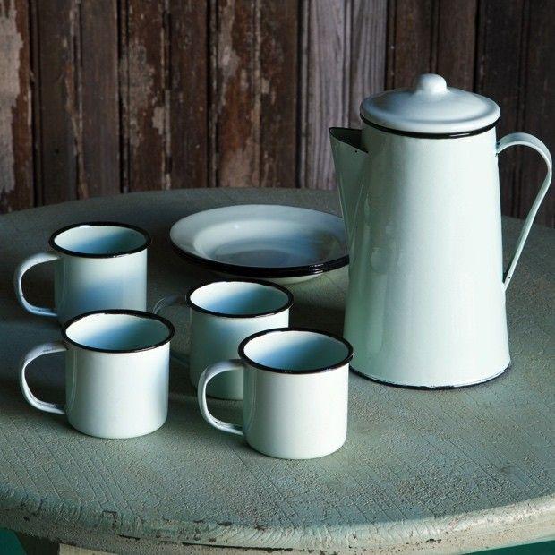 Petite Enamelware Coffee Pot Set