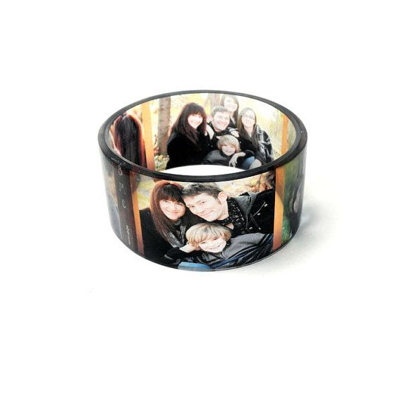 Personalized Keepsake Chunky  Photo Bangle Bracelet by BuyMyCrap, $48.00