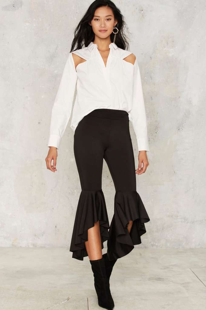 Cha Cha Ruffle Pants - Clothes   Party Clothes   All Party   Wide Leg + Flare   Trouser