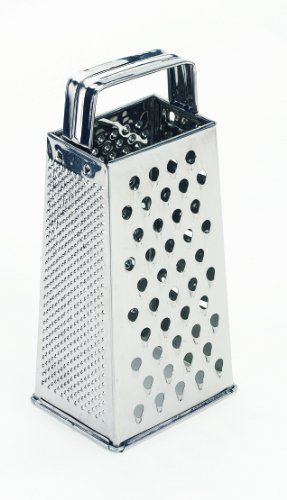 Crestware Stainless Steel Tapered Sided Grater by Crestware Commercial Kitchen. $14.31. Economical; value price. Commercial use. Professional grade. Durable; reliable; sturdy. High quality. Four-Sided Stainless Steel Tapered Grater. For professional use. Made for heavy duty, high usage food service businesses.