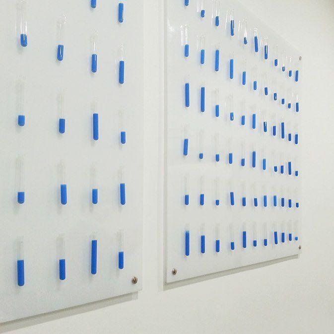My art installation  Sangue blu link in bio #art #installation #artinstallation #installazione #provette #tubes #sangueblu #blood