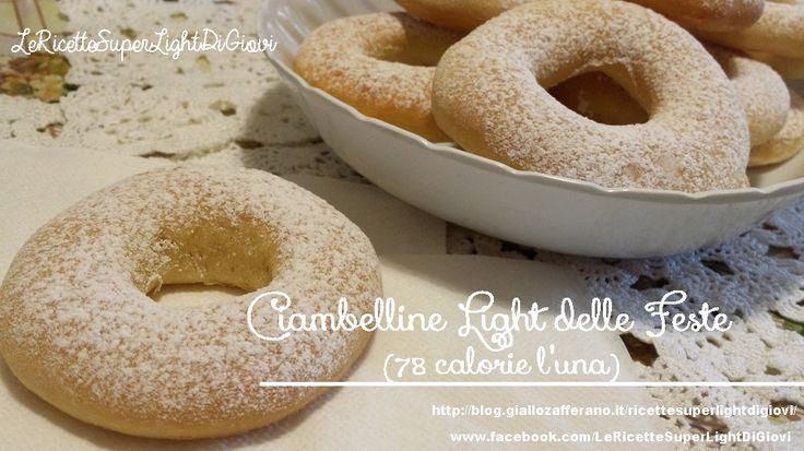 Ciambelle light delle feste - cotte al forno (78 calorie per ciambella)