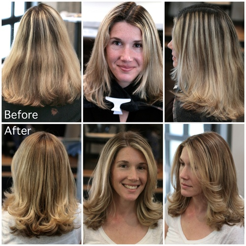 Hair style zebra strips