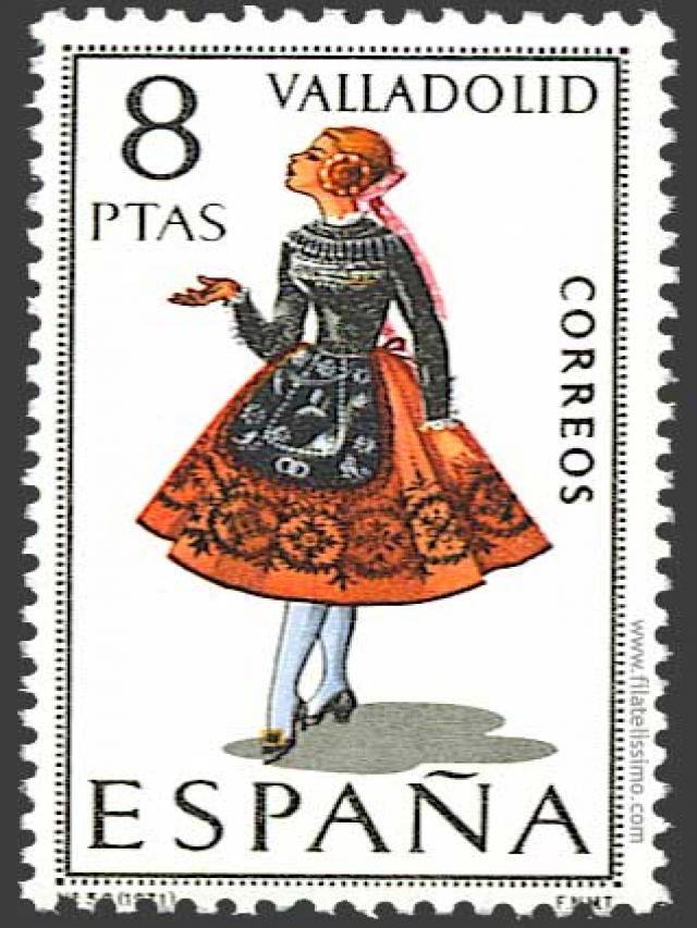 Spain stamp - Regional costume Valladolid