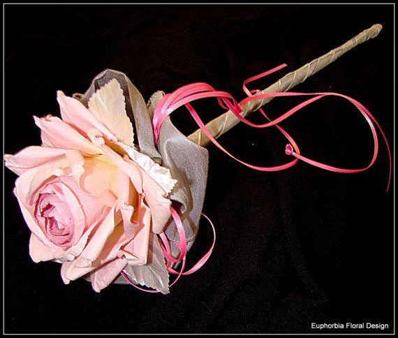 Wedding Wand,Fairy Princess Wand, Flower Girl Wand, Pink Wedding