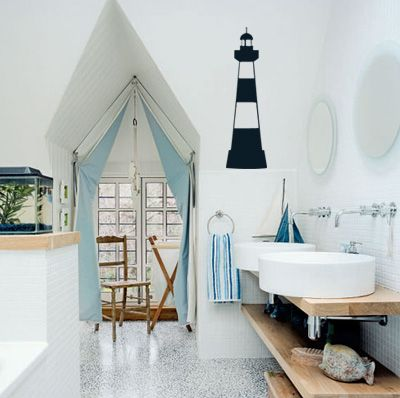 My Future Home Will Have A Nautical Themed Guest Bathroom.