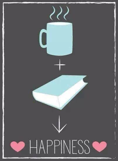 coffee + books = happiness
