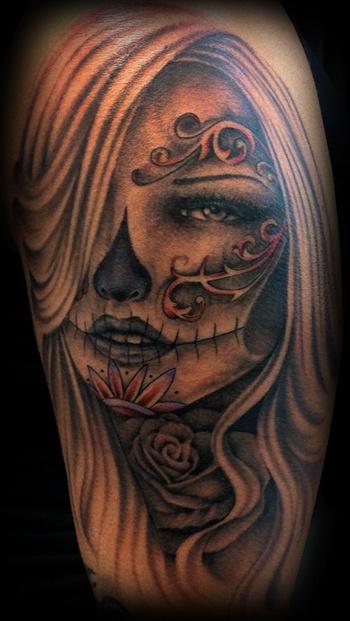 11 best images about sugar skull girls on pinterest no for Female skull tattoos