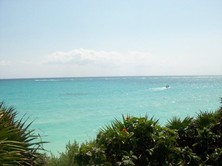 the beach at Tulum, Riviera Maya, Mexico