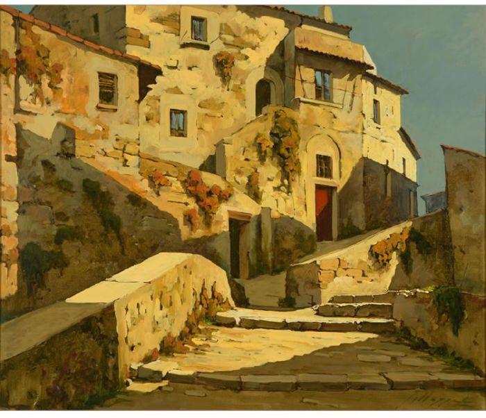 Italian Afternoon Lucio Sollazzi Zantman Art Galleries Art Gallery Still Life Painting Art