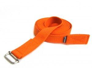 Pasek do jogi - długość 300 cm - pomarańczowy