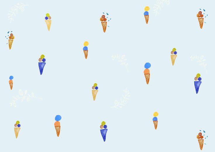 Ice cream illustration for Ładnebebe