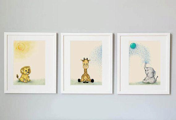 Safari animals nursery print  Animal nursery by Shhadottedline #nursery #nurserydecor #animalprint #safari #safariprint #prints #childrensart #gift #babyshower