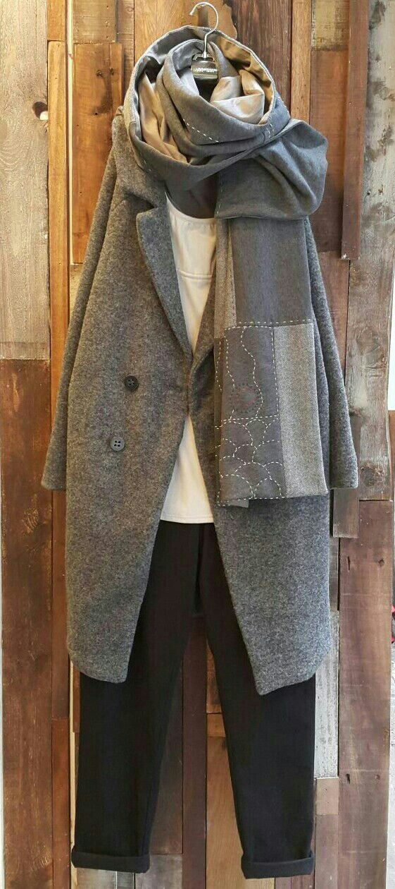 Women's Grey Wool Coats