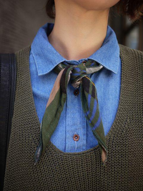 silk scarf tied