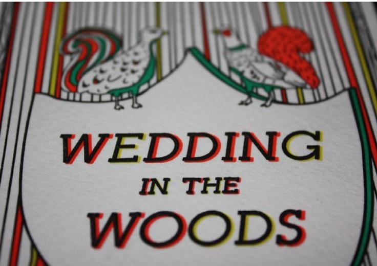 Rustic-feel wedding inivtation. (4 colour letterpress) Printed by Watermarx Graphics - www.watermarx.net